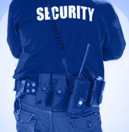 Agent de sécurité - de dos