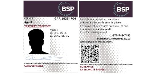 Nouveau permis d'agent de sécurité du BSP - Gardiennage