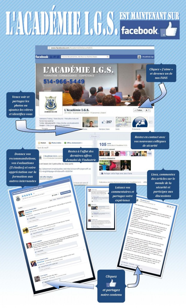 L'Academie IGS sur Facebook - Poster